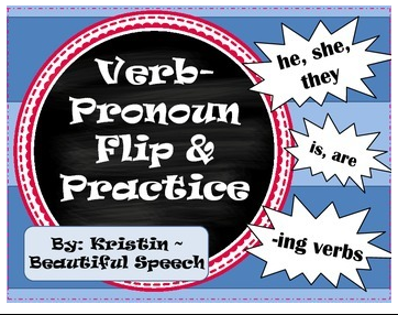 verb pronoun flip and practice